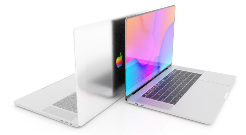 Apple logo arc-en-ciel MacBook Pro