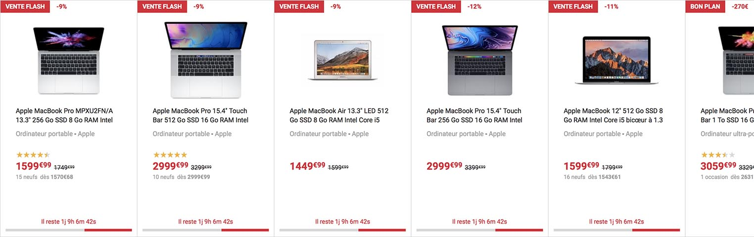 vente flash Mac Fnac