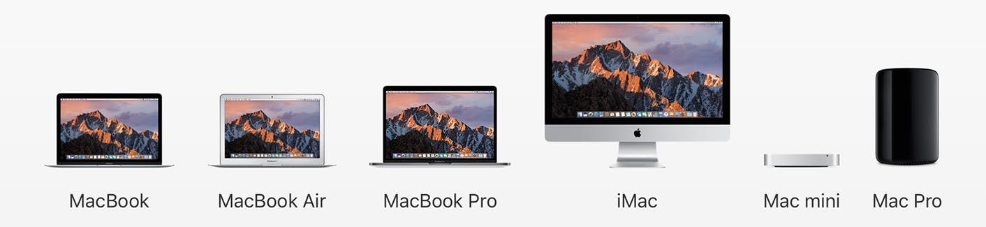 Mac gamme 2016