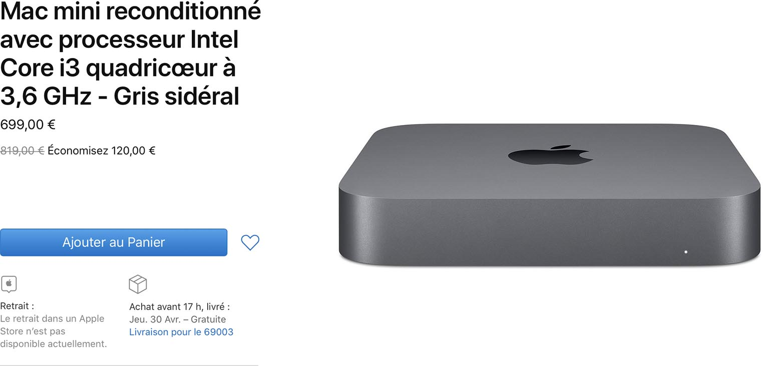 Mac mini Refurb Store