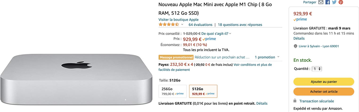 Mac mini M1 promo Amazon