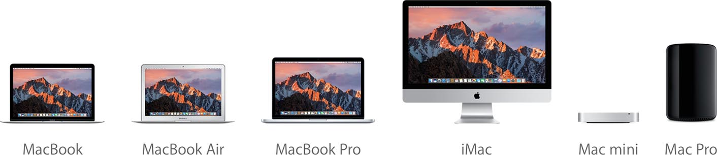 Mac gammes