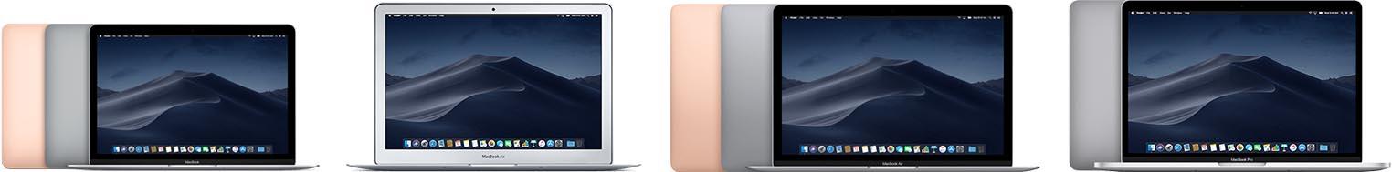 Mac portables grand public 2018