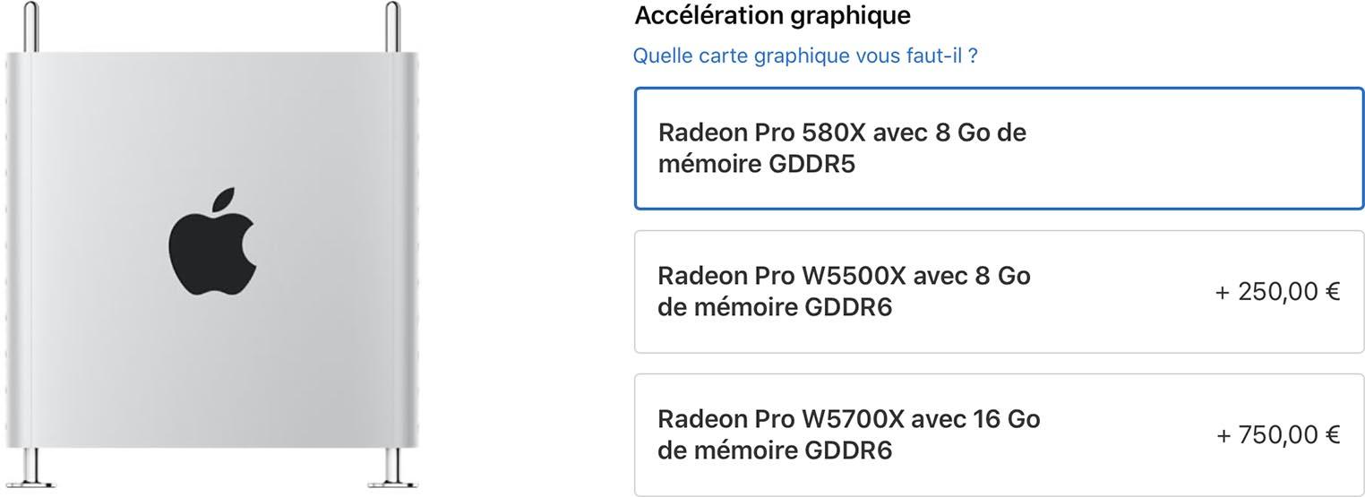 Mac Pro Radeon Pro W5500X