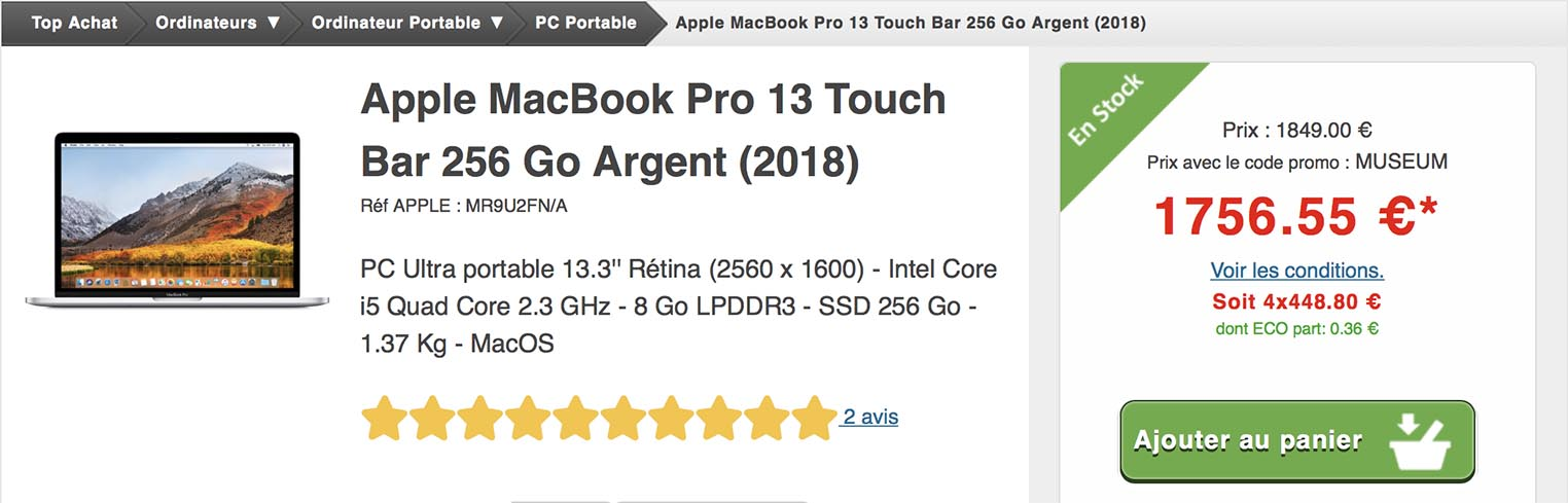 MacBook Pro Top Achat