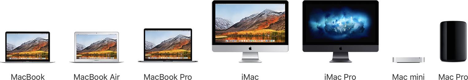 Mac gamme 2018