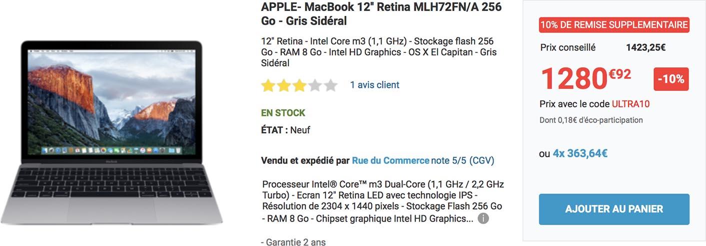 MacBook 12 promo Rue du Commerce