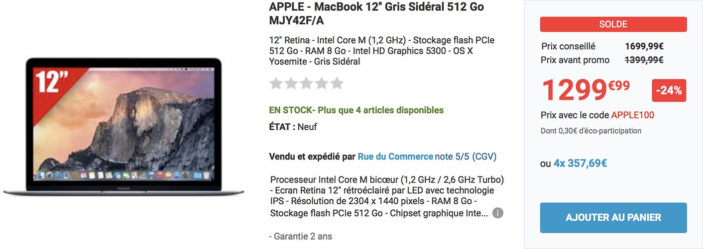 MacBook Soldes Rue du Commerce