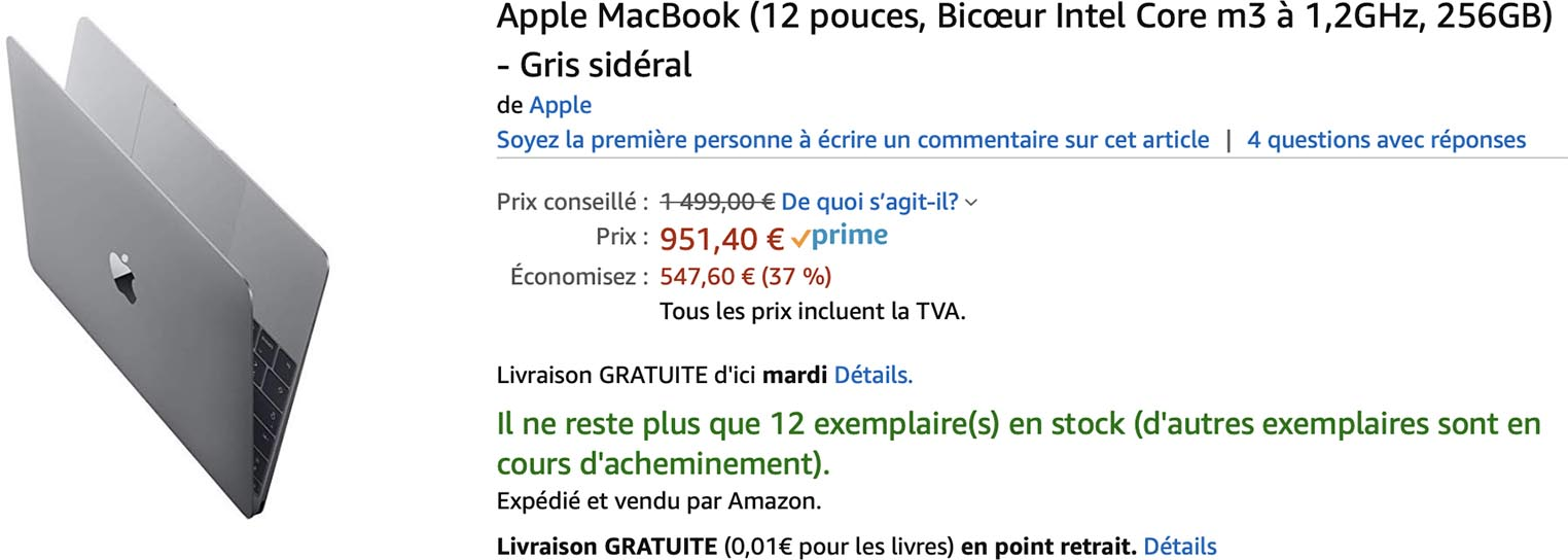 MacBook 12 promo Amazon