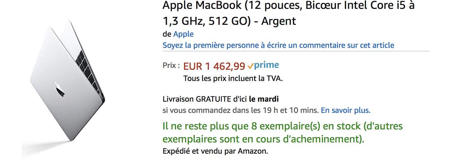 MacBook 12 pouces Amazon