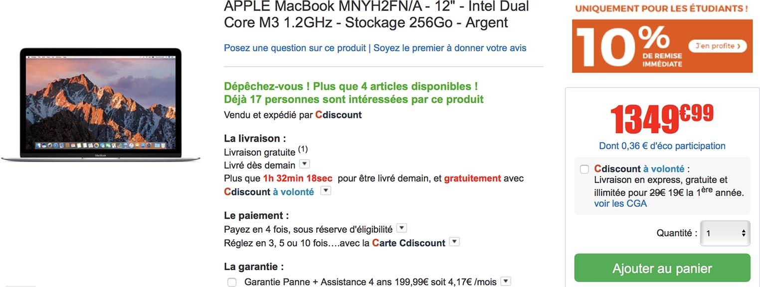 MacBook CDIscount