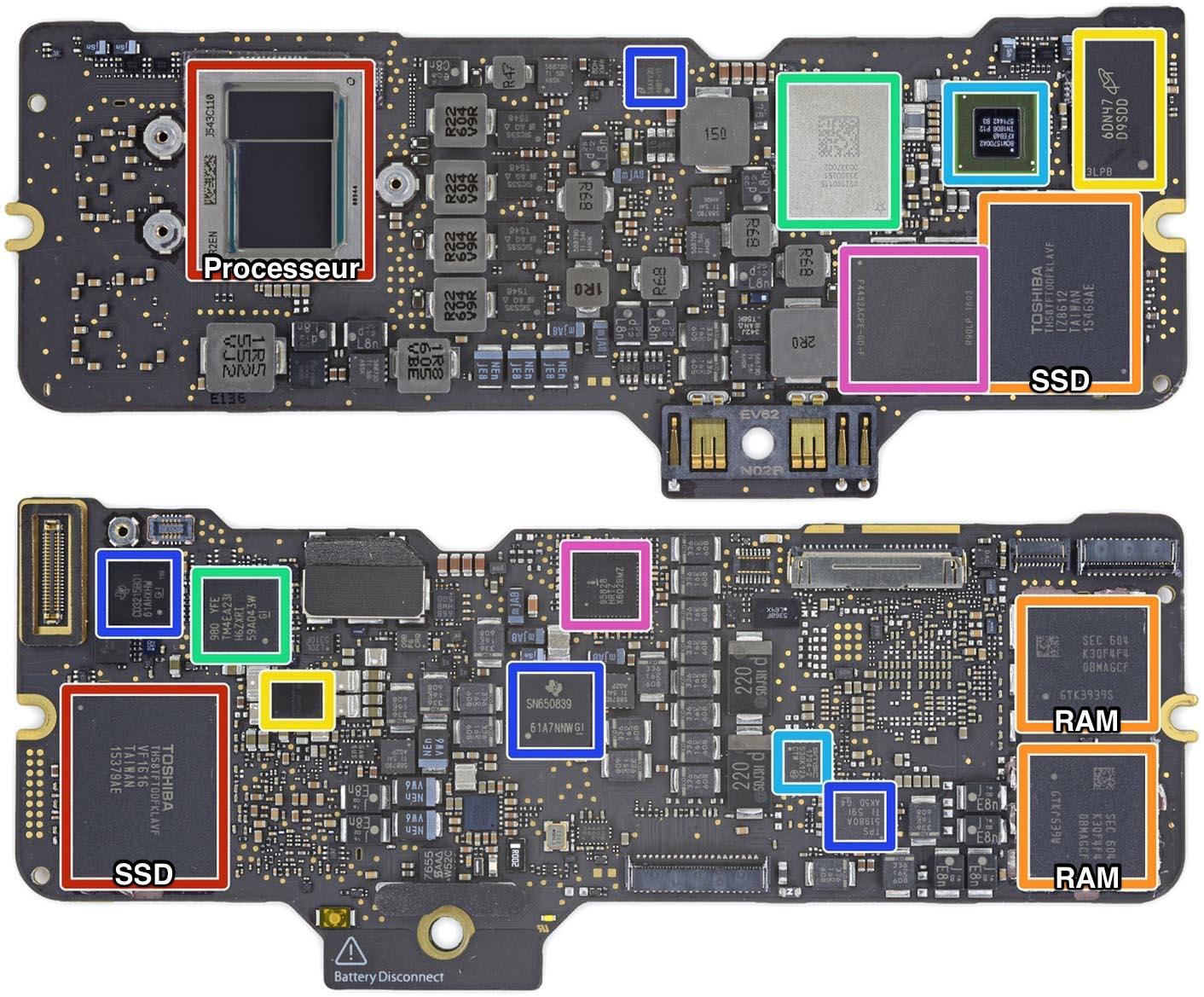 MacBook 2016 carte mère