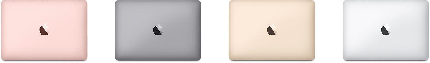 MacBook 2016 couleurs