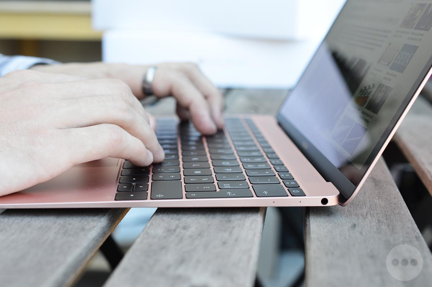 MacBook 2016 rose clavier