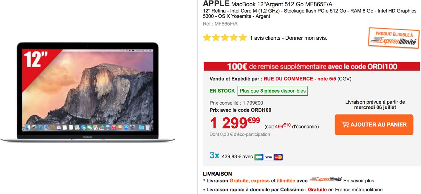 MacBook promo Rue du Commerce
