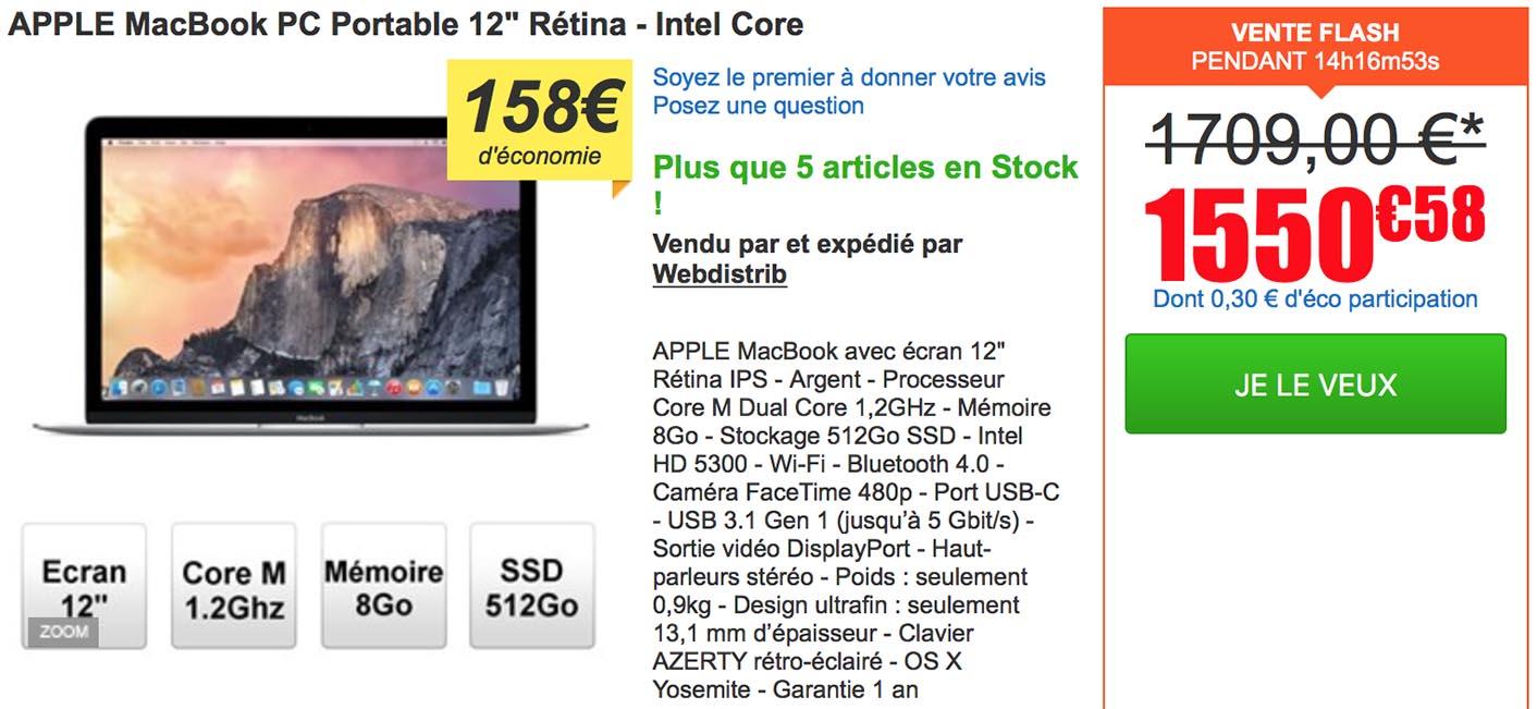 MacBook 512 Go
