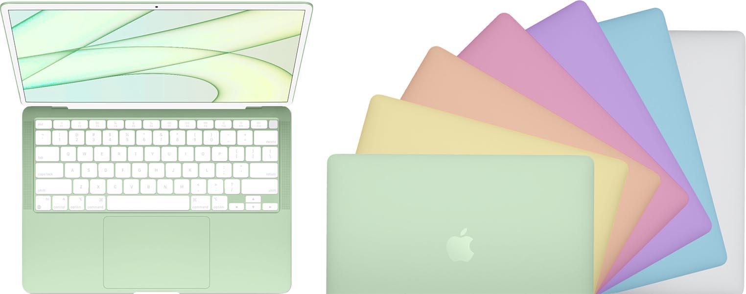 Concept MacBook Air couleurs iMac