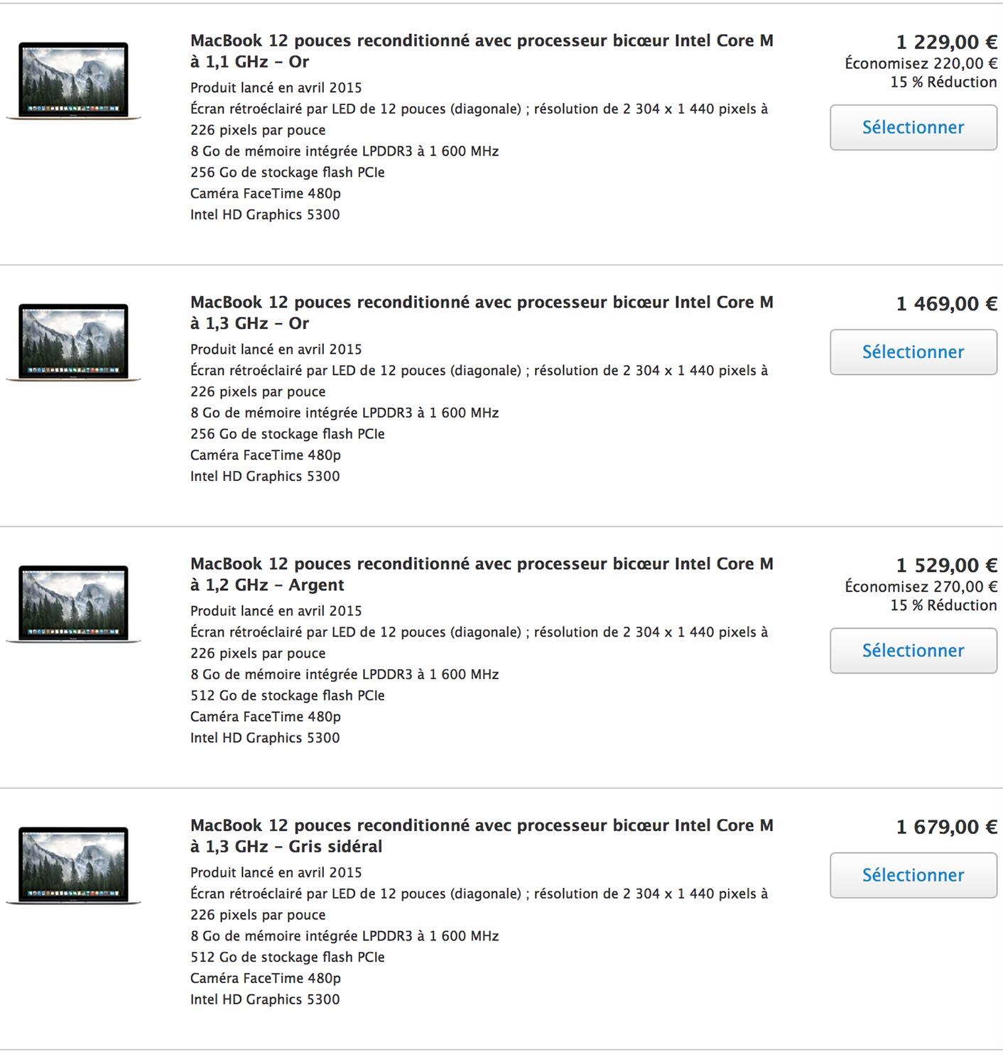 MacBook 12 Refurb