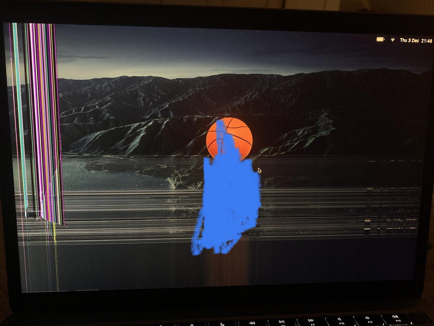 MacBook M1 fissuré