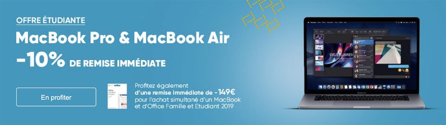 Étudiants : -10% sur les MacBook Air et Pro à la Fnac