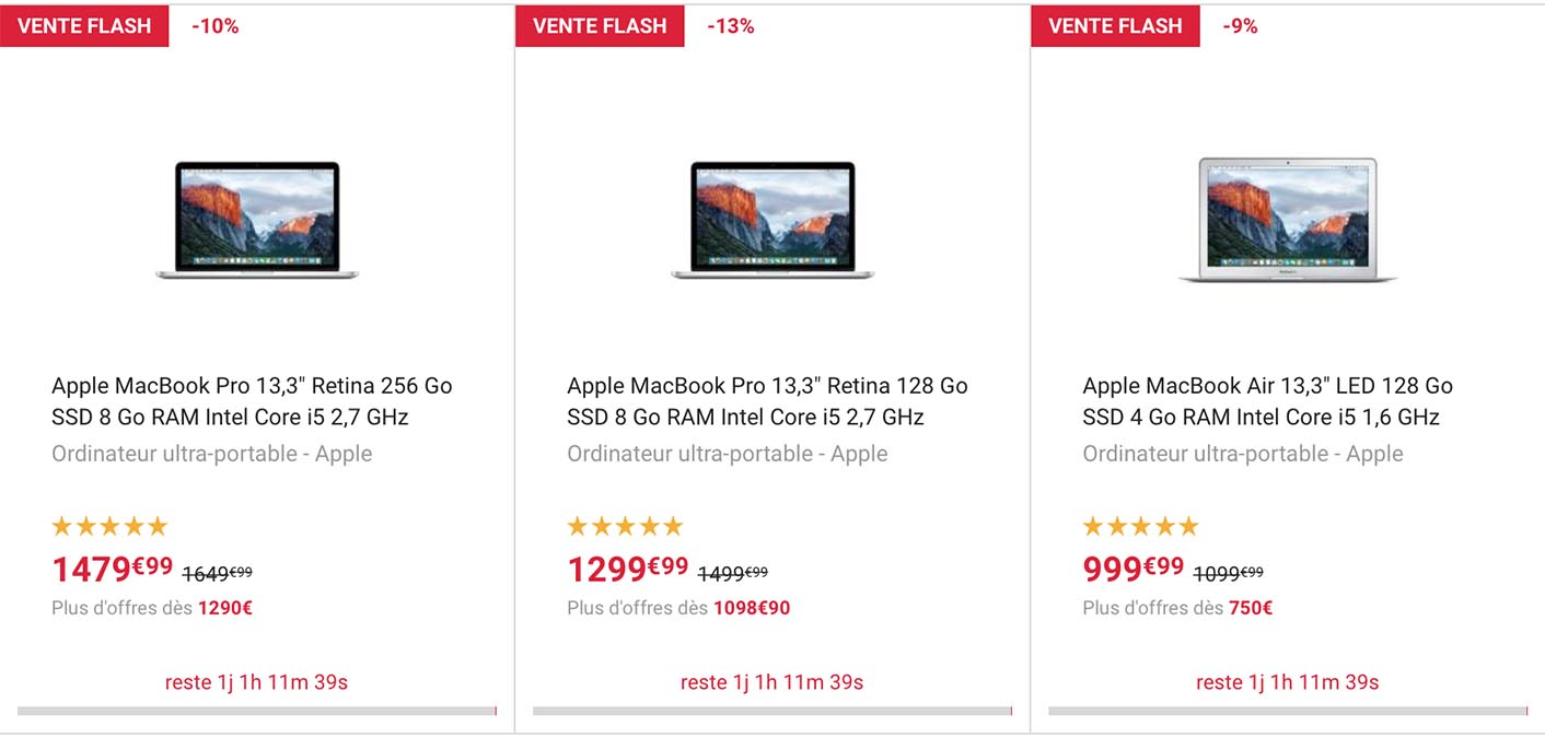 MacBook vente flash Fnac