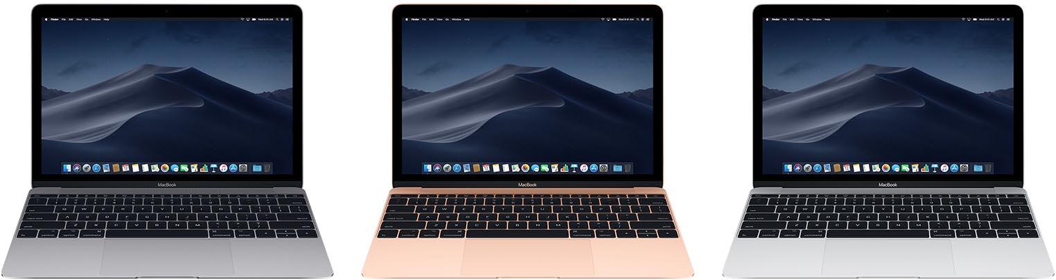MacBook 12 pouces coloris 2018