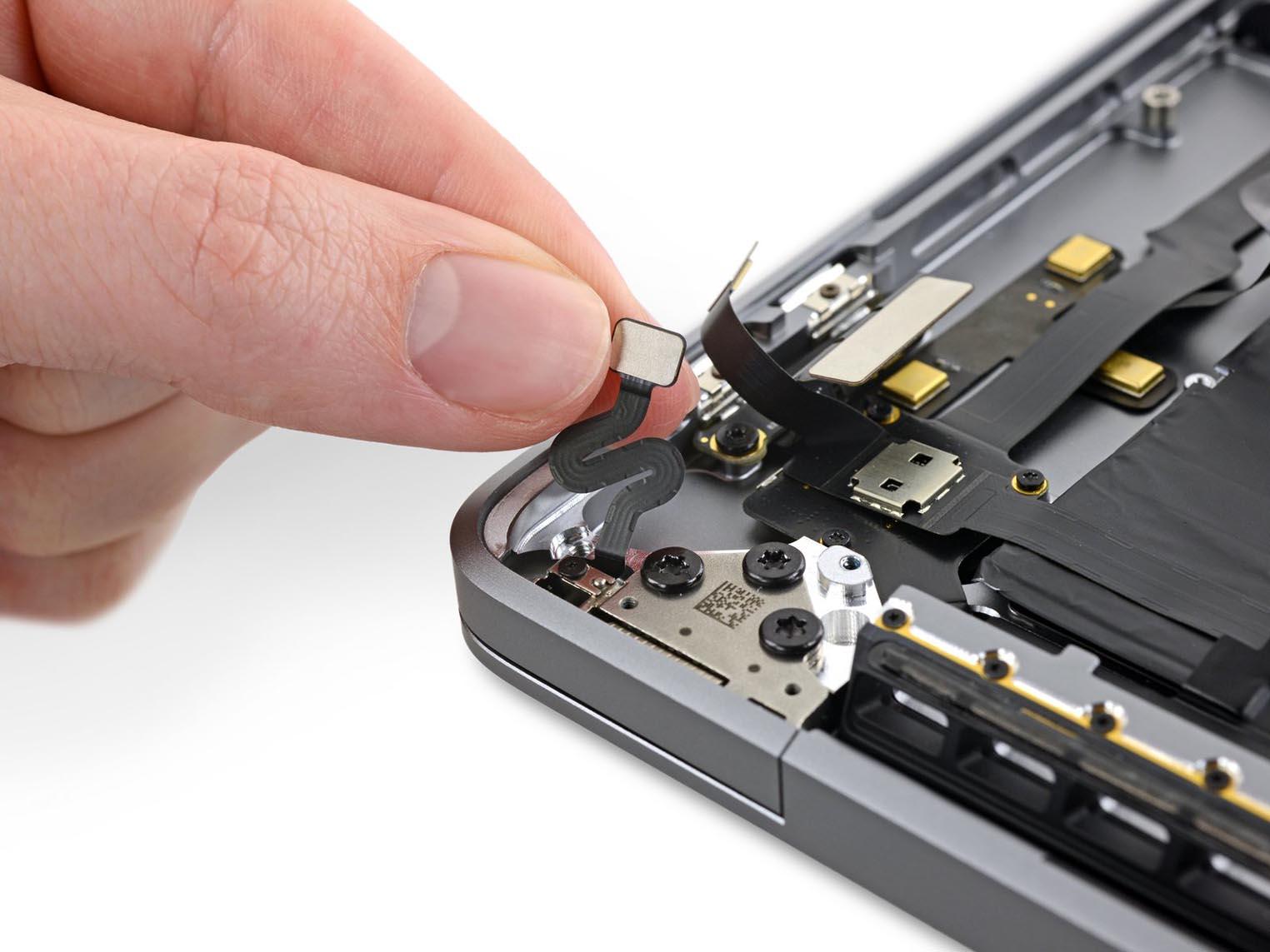 MacBook Pro 16 pouces capteur angle écran
