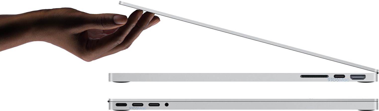 MacBook Pro 2021 rendus