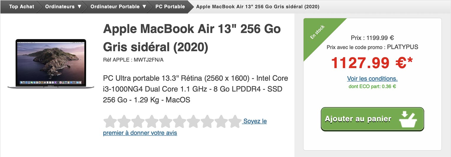 MacBook Air 2020 Top Achat