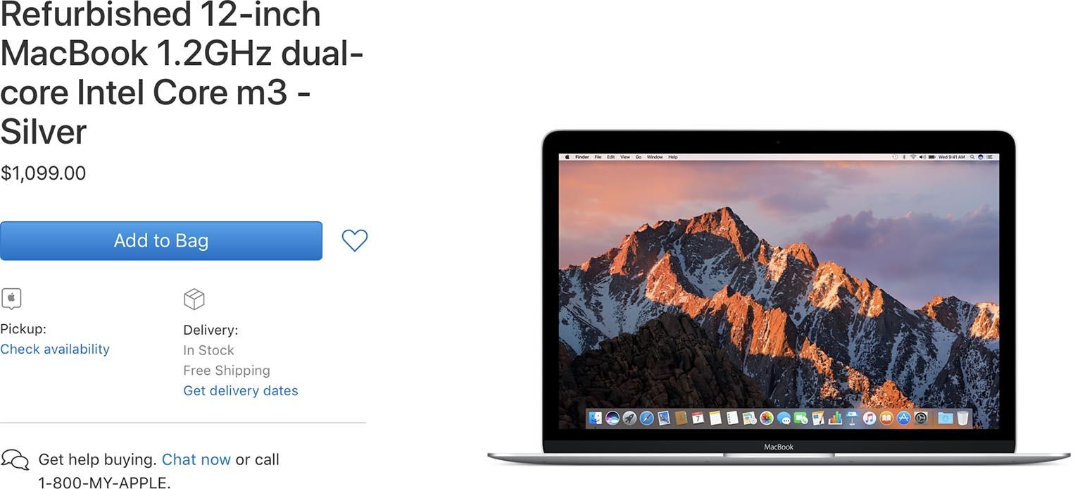 MacBook 12 Refurb US