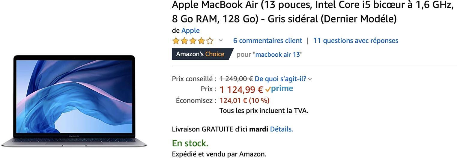10% de remise sur les MacBook Air de 2019
