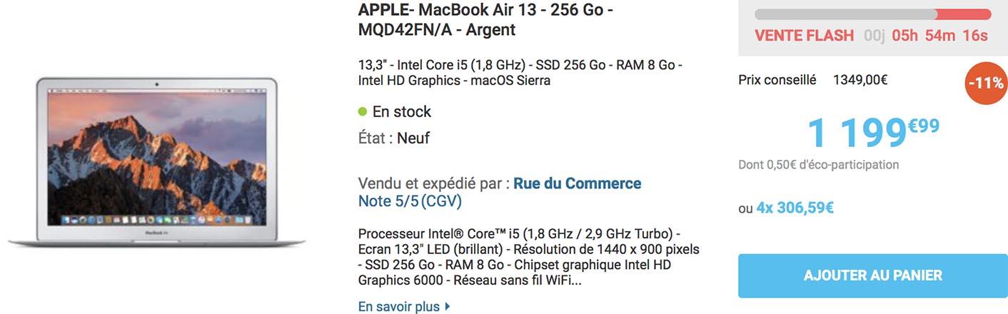 MacBook Air 13 Rue du Commerce