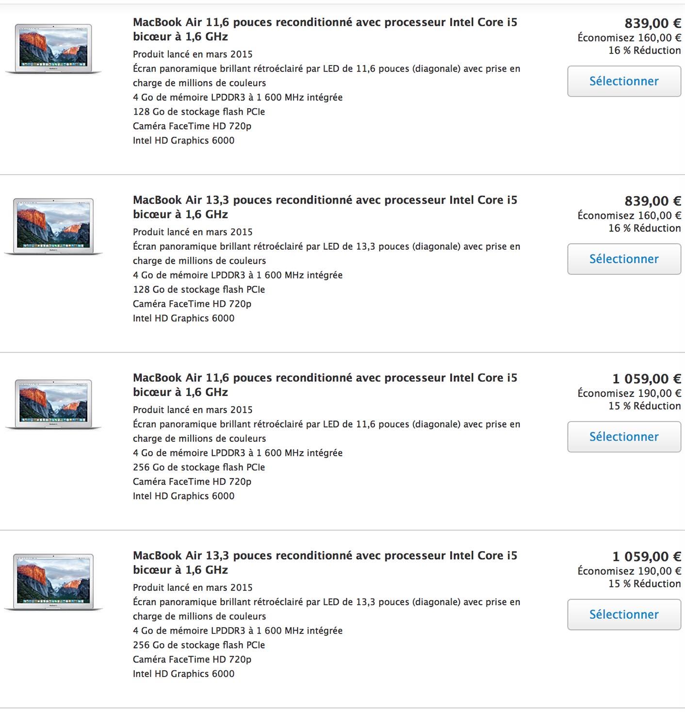 consomac prix en baisse pour le macbook air 13 3 39 39 sur le refurb. Black Bedroom Furniture Sets. Home Design Ideas