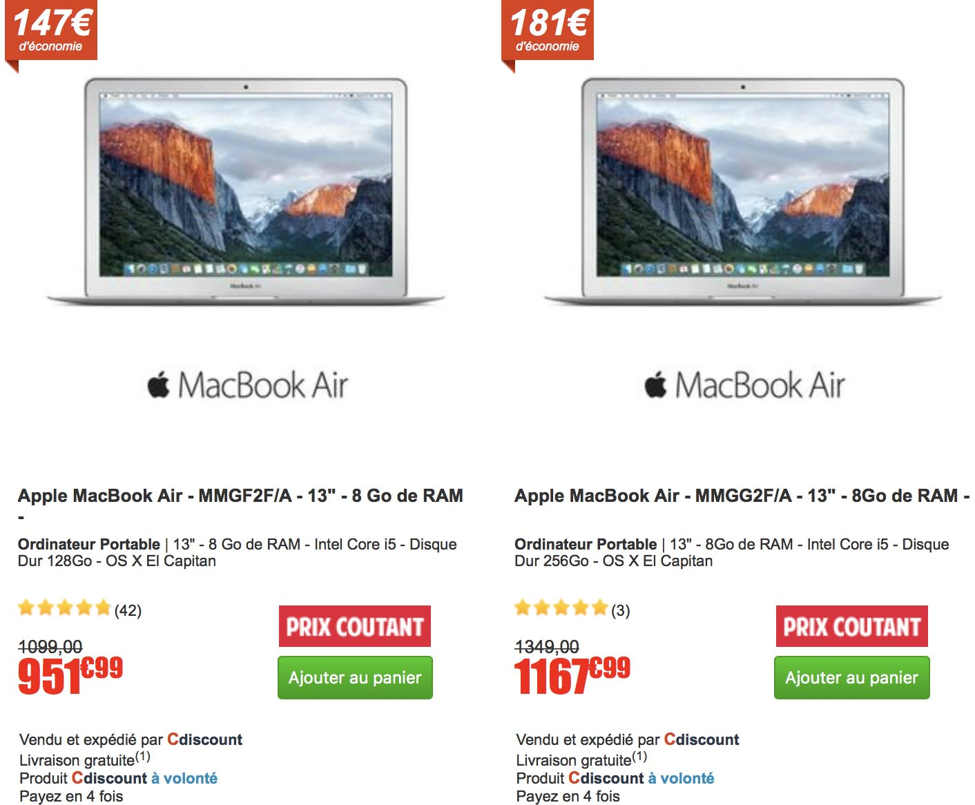 MacBook Air promo CDiscount