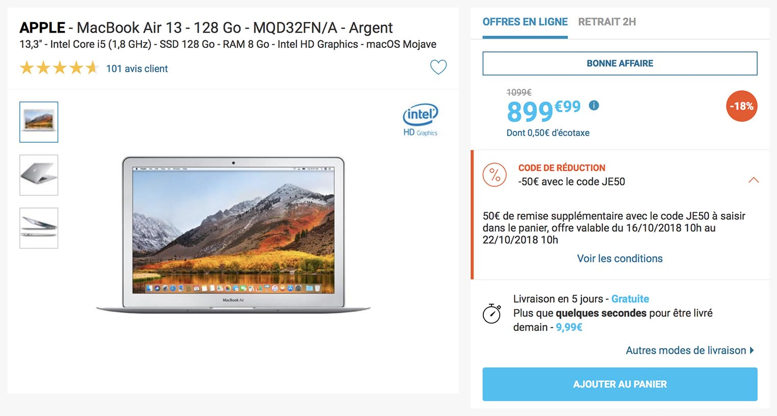 MacBook Air Rue du Cpmmerce