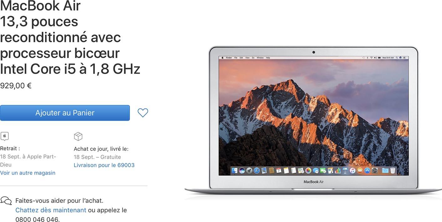 MacBook Air 2017 Refurb Store