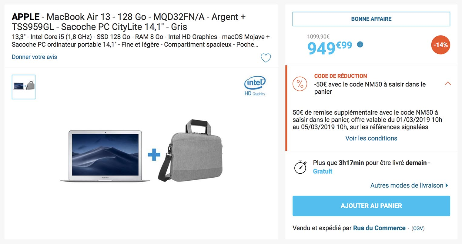 MacBook Air 2017 Rue du Commerce