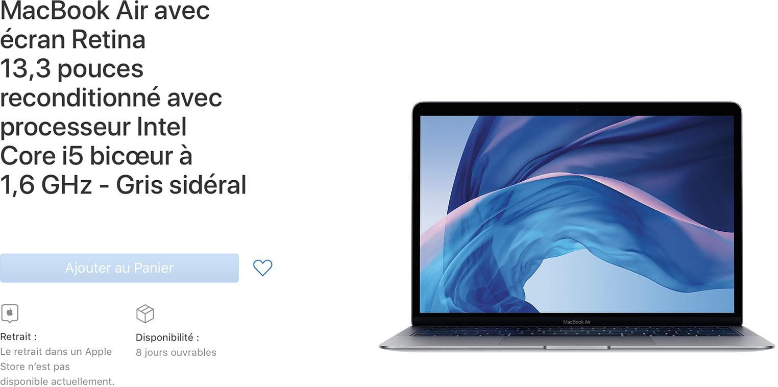 MacBook Air 2018 Refurb Store
