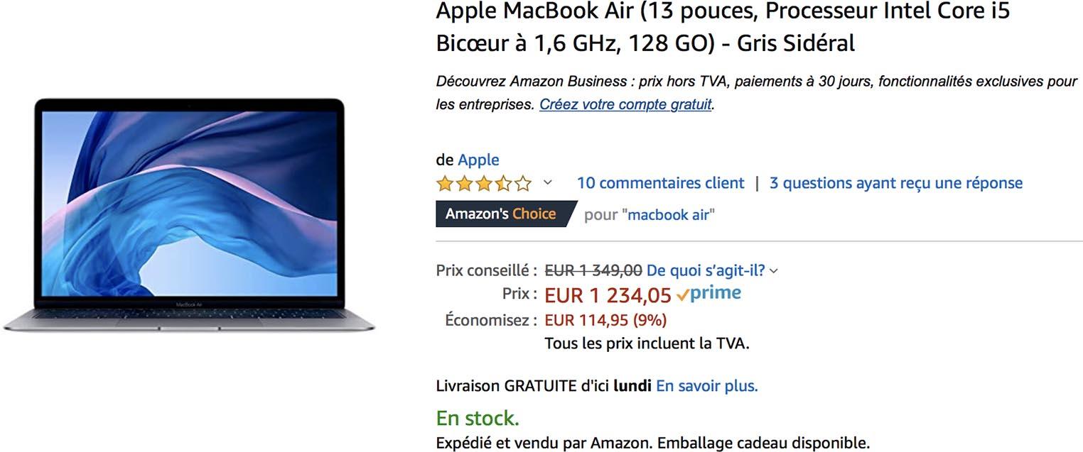 MacBook Air 2018 Amazon