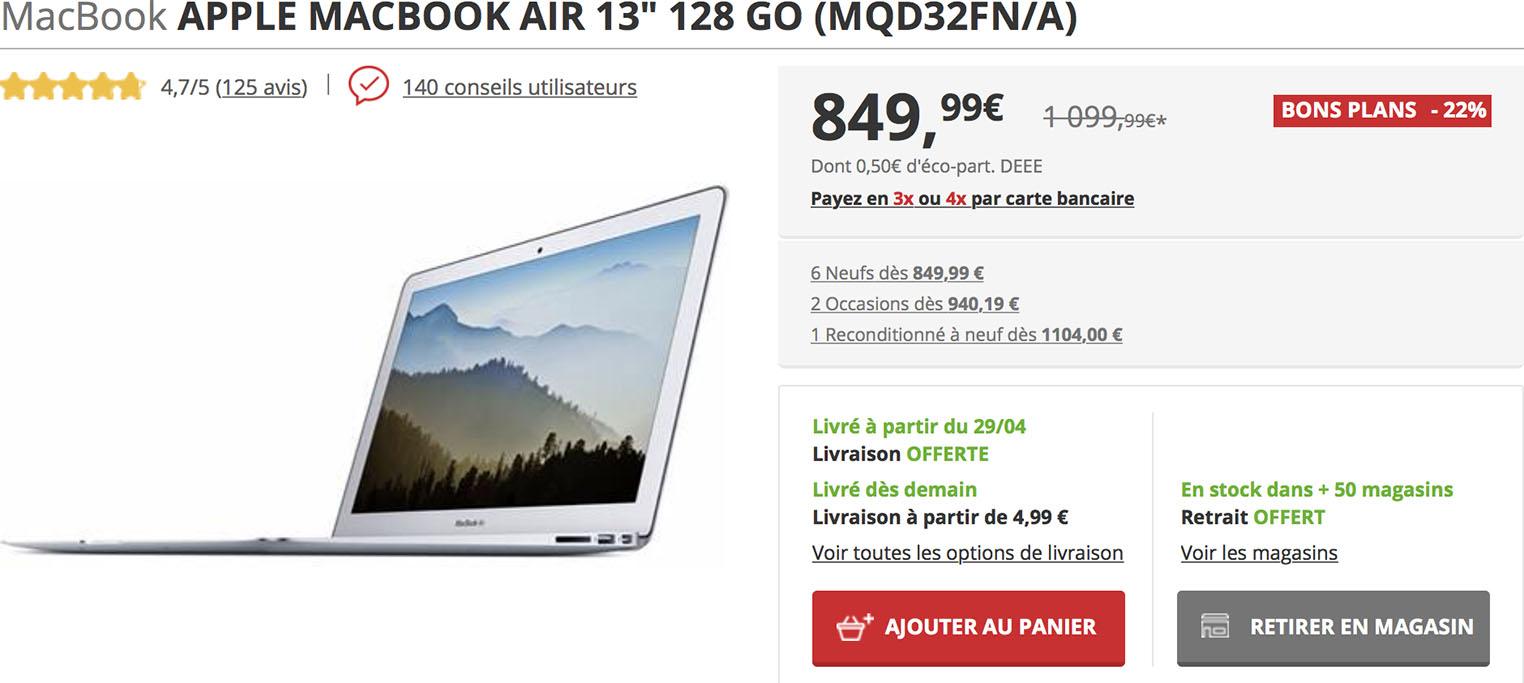 MacBook Air Darty