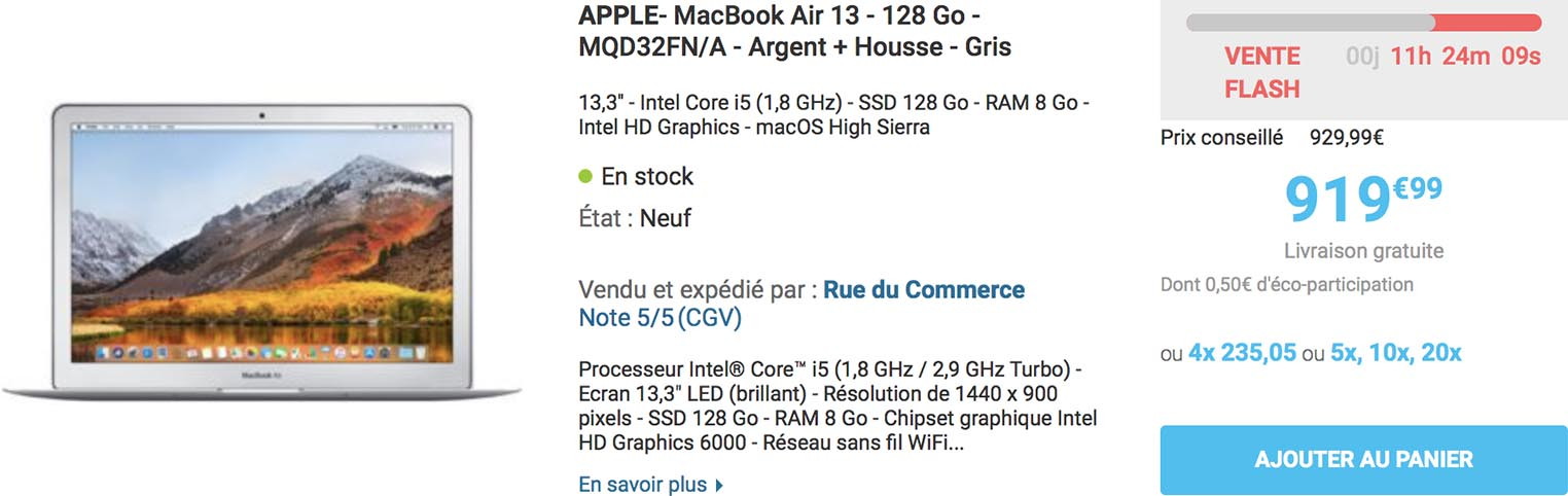 MacBook Air Rue du Commerce