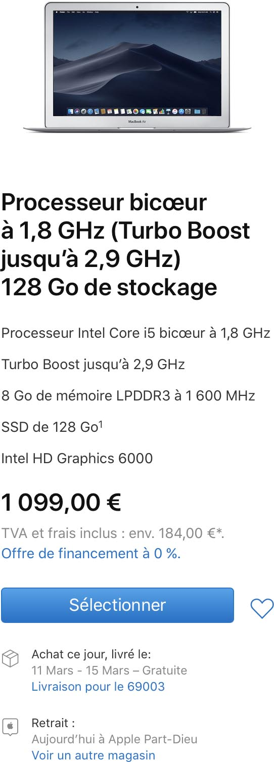 MacBook Air classique