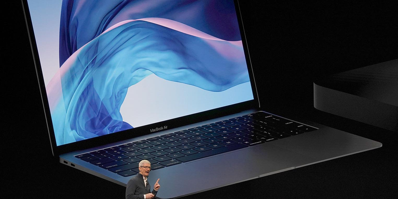 MacBook Air 2018 Tim Cook