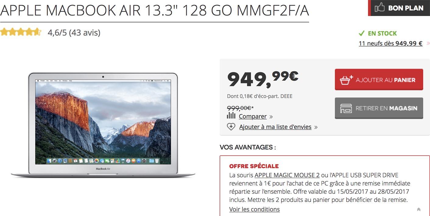 MacBook Air vente flash Darty