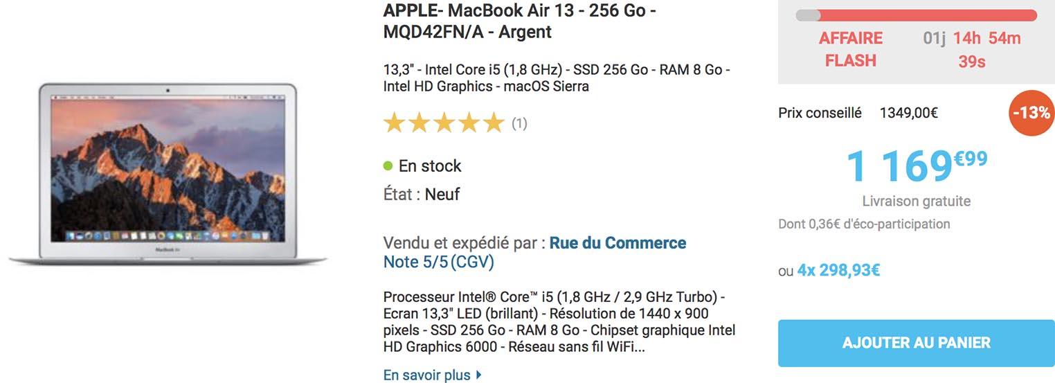 MacBook Air vente flash 2017