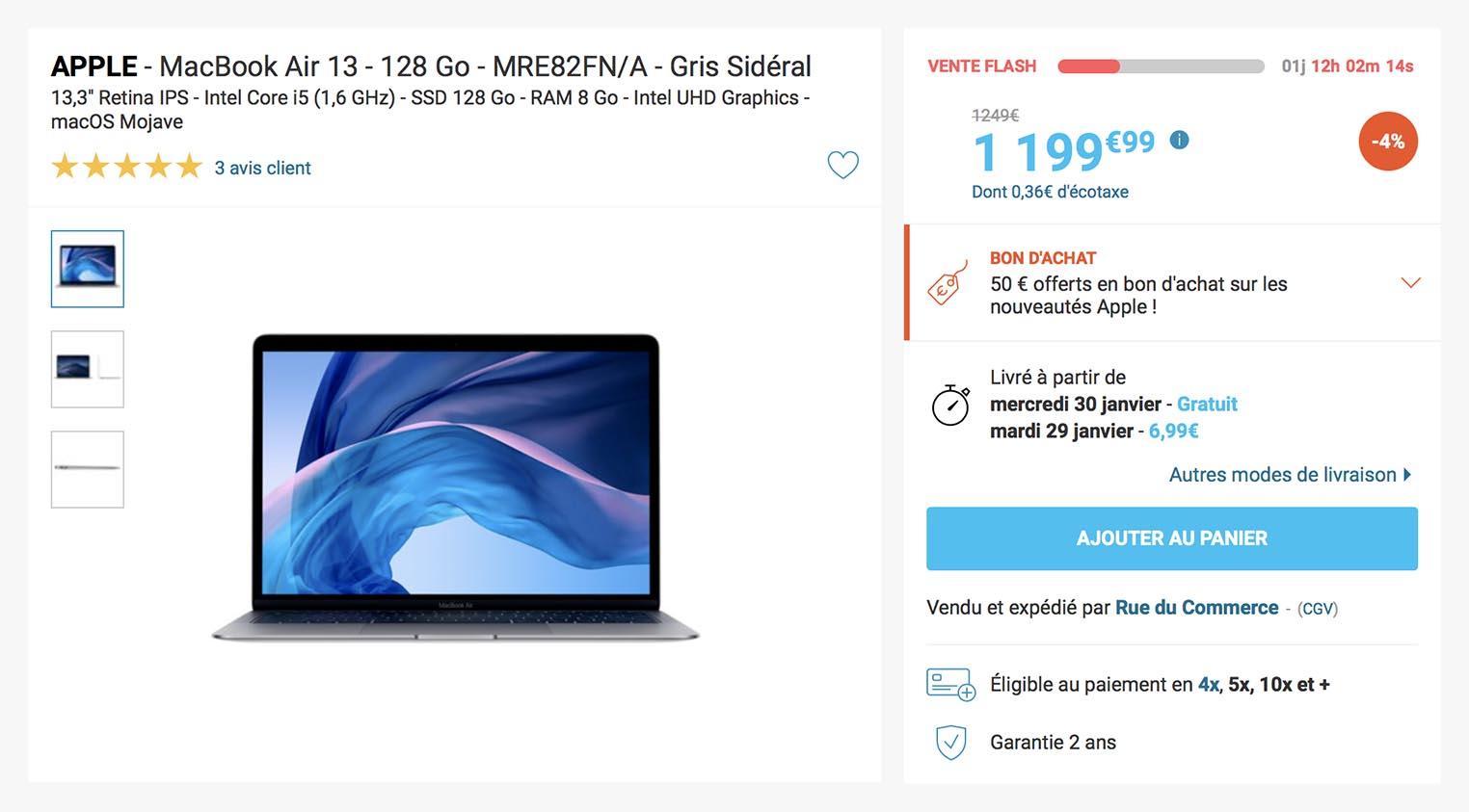 MacBook Air 2018 Rue du Commerce