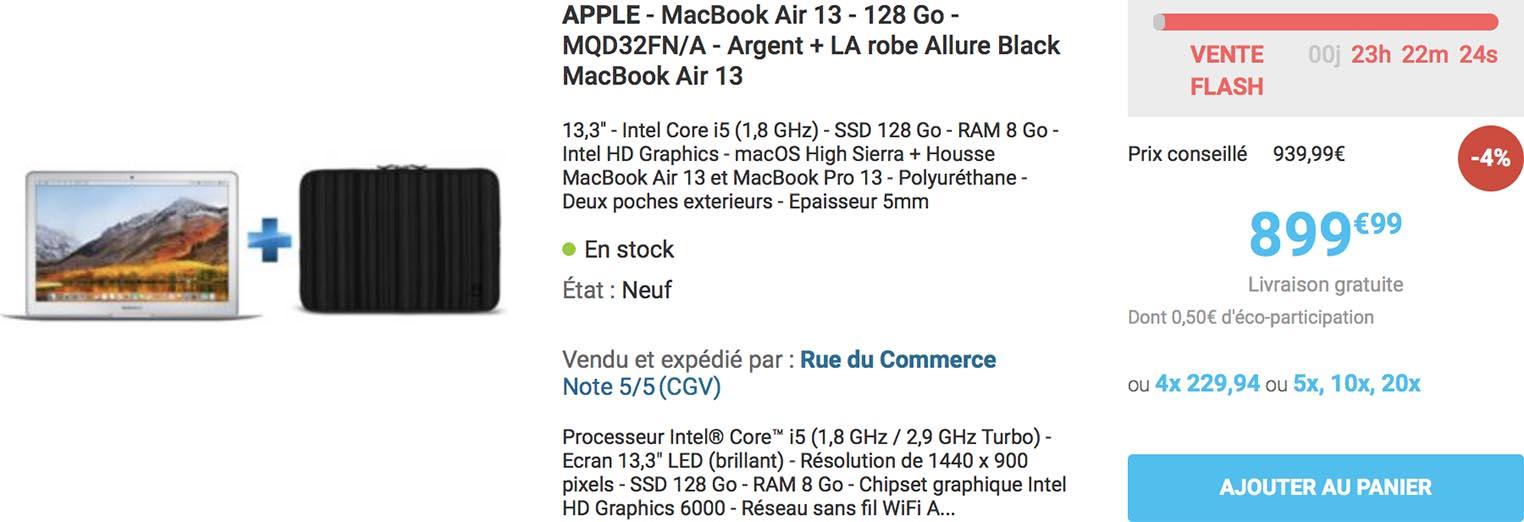 MacBook Air housse Rue du Commerce