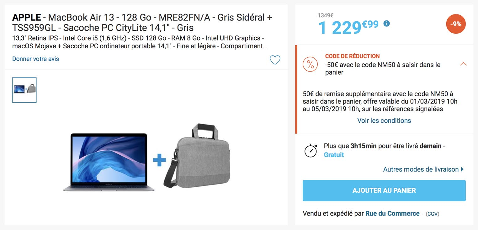 MacBook Air 2018 Rue du Commerce