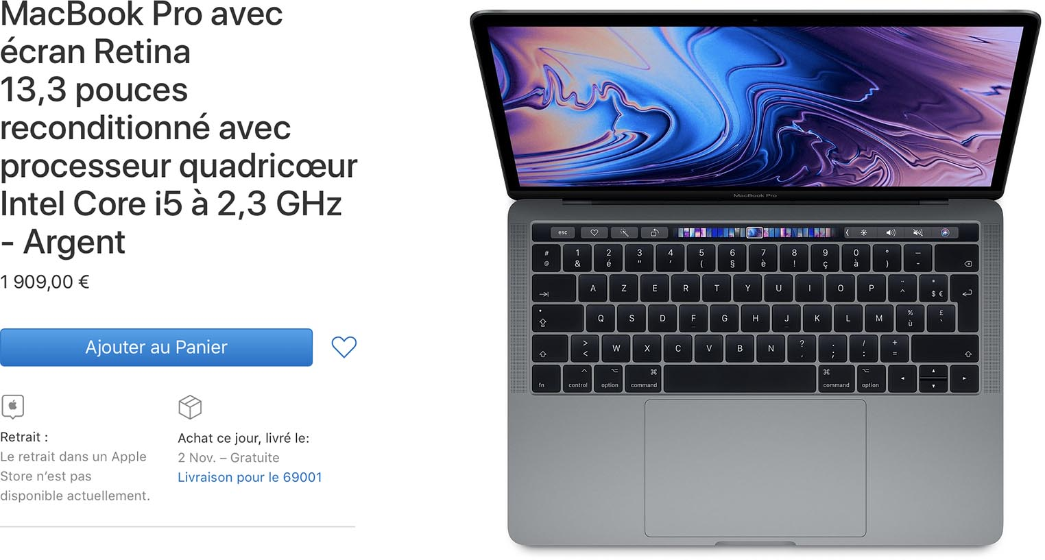 MacBook Pro 2018 Refurb Store