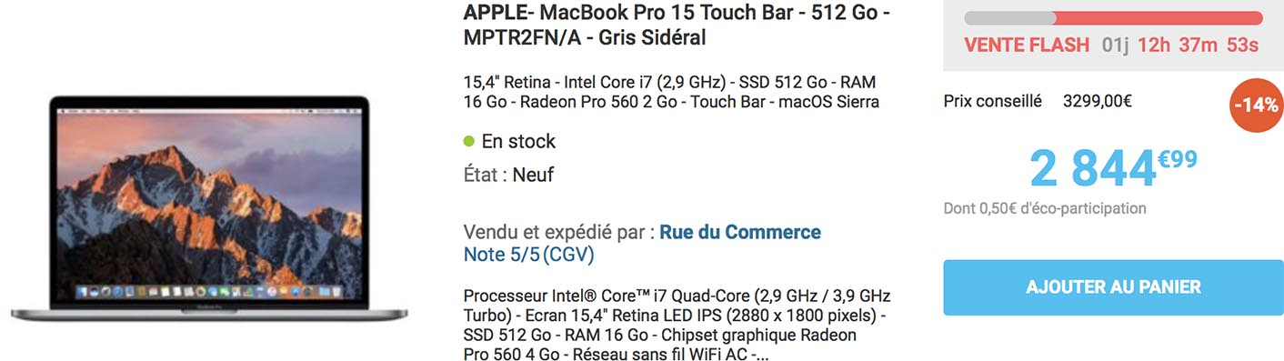MacBook Pro Rue du Commerce